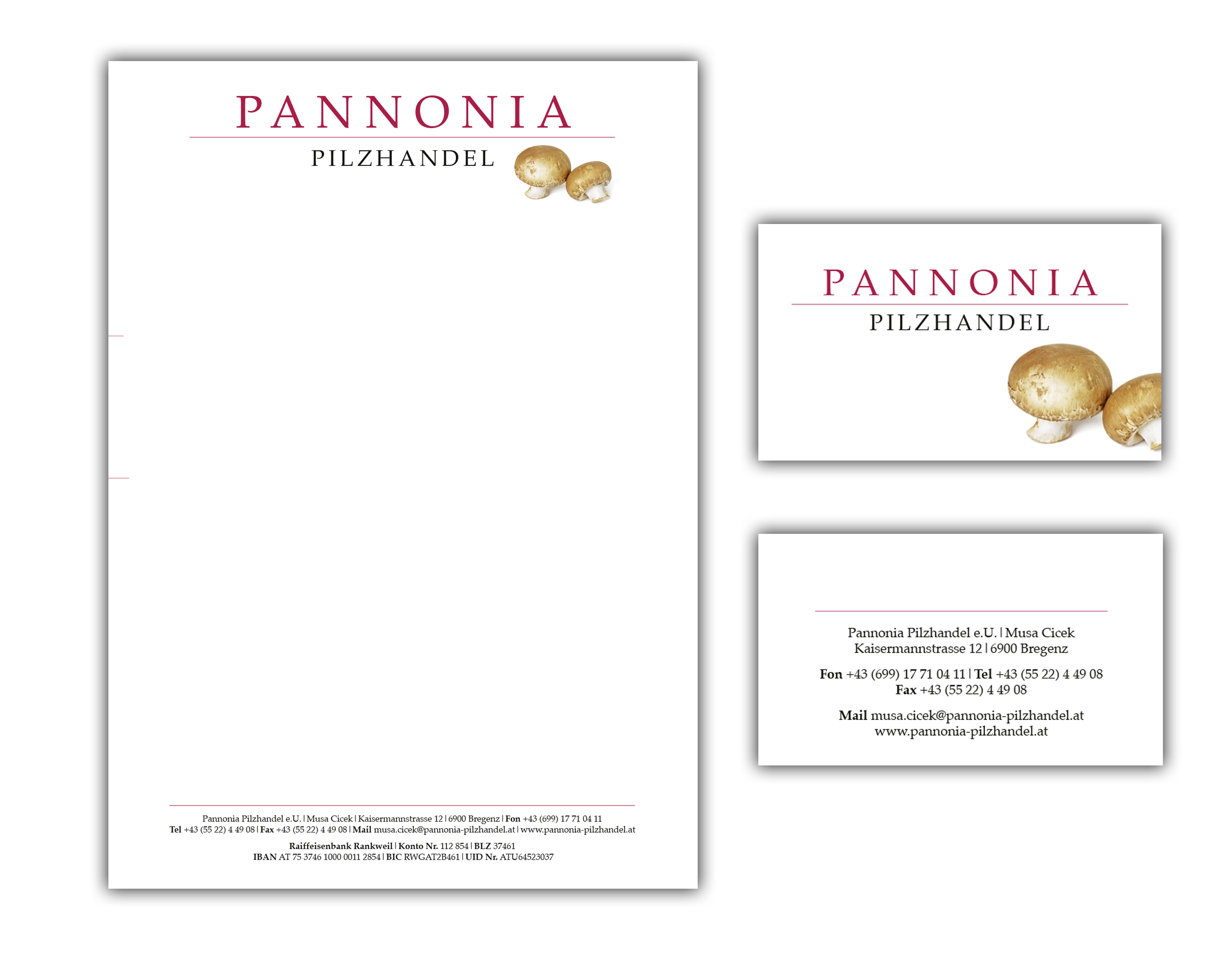 Pannonia Pilzhandel, let love guide your way, Cool Logo design, clean Logo design, Sleek chic, addesign