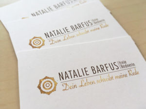 Natalie Barfus, Freie Rede, Logo, best logo of the world, inspiration business card, visitenkarten inspriationen