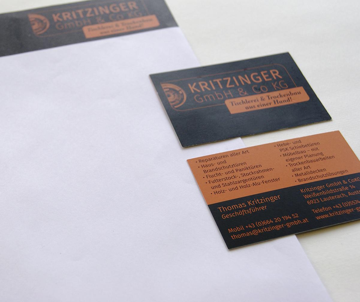 kritzinger lauterach, schönes CI, cool CI, best corporate IdentityGeschäftsausstattung Kritzinger