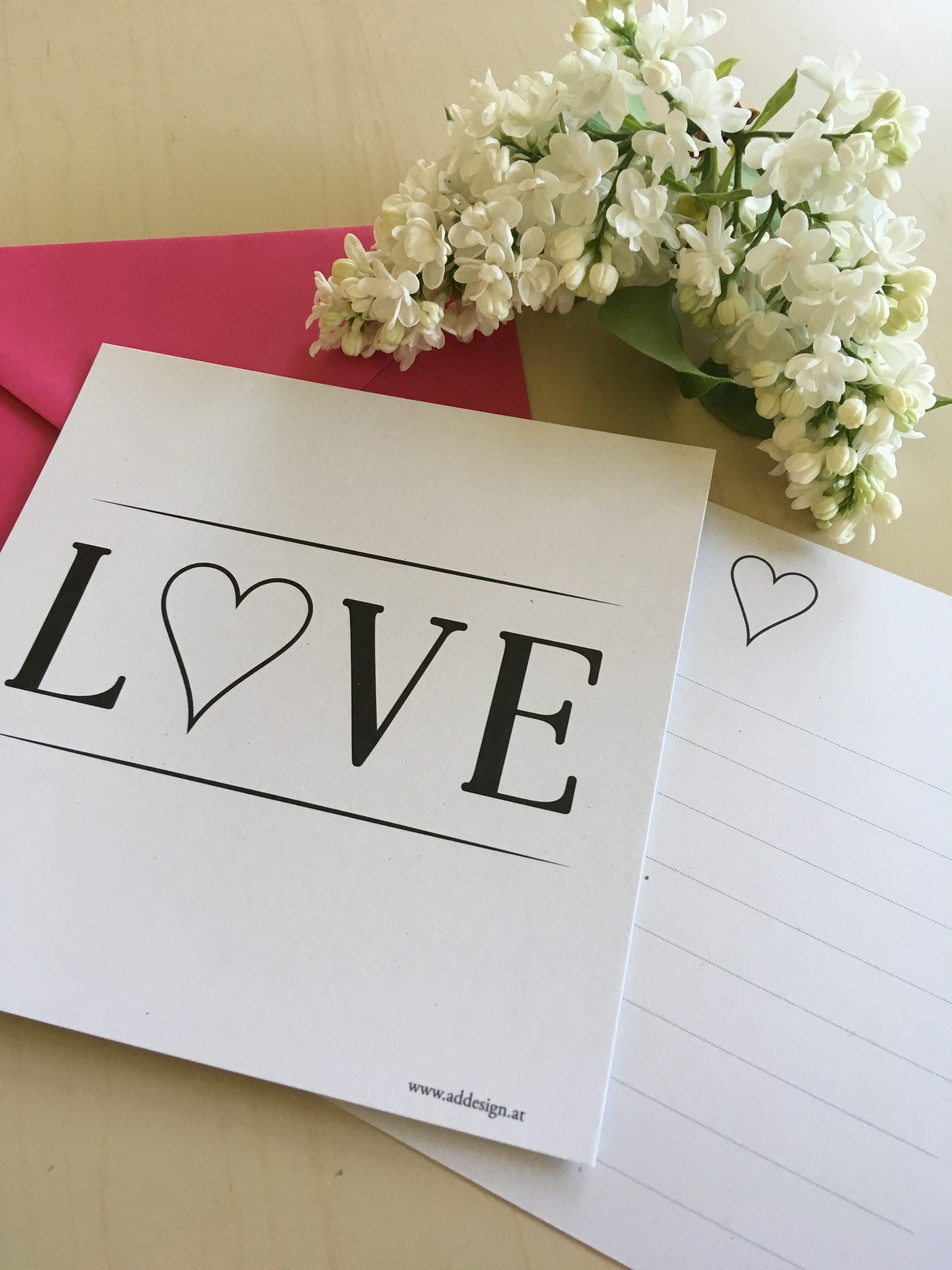 Karte Love, Liebesbrief, die richtigen Worte finden, Add, Anna Delia D Errico, let love guide your way