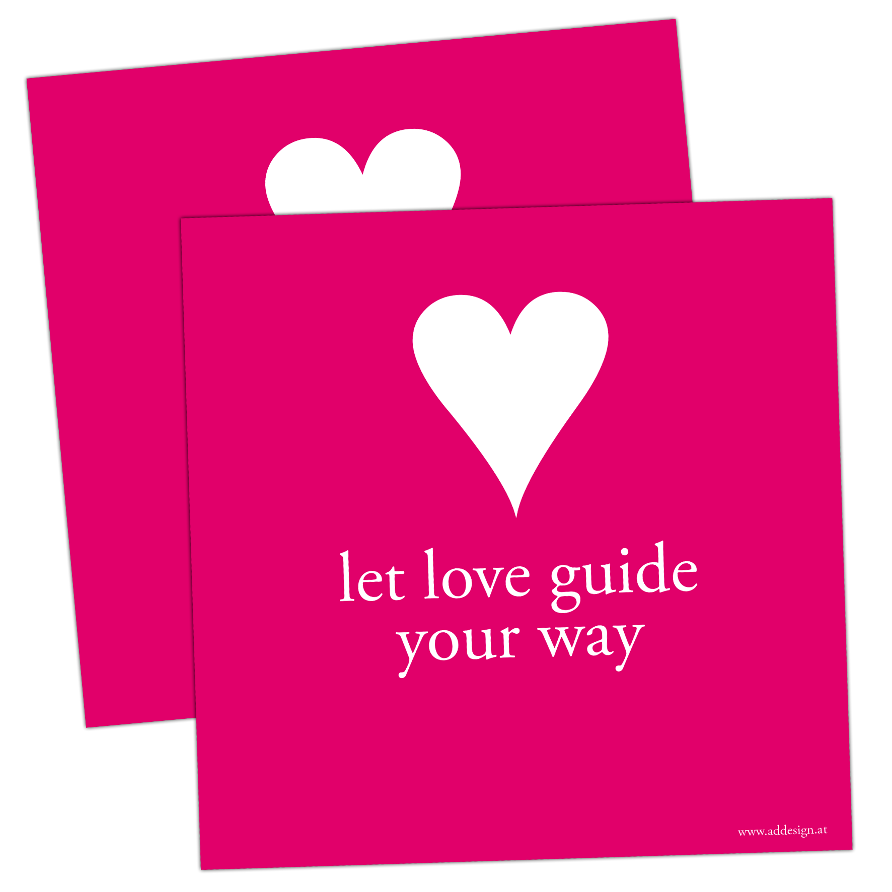 Addesign, Affirmationskarten, Gefühlskarten, Burnout, Let love guide your way